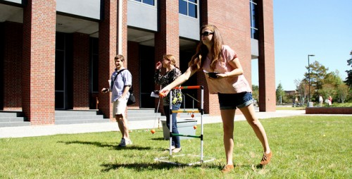 Image of Students playing yard games at an organization event